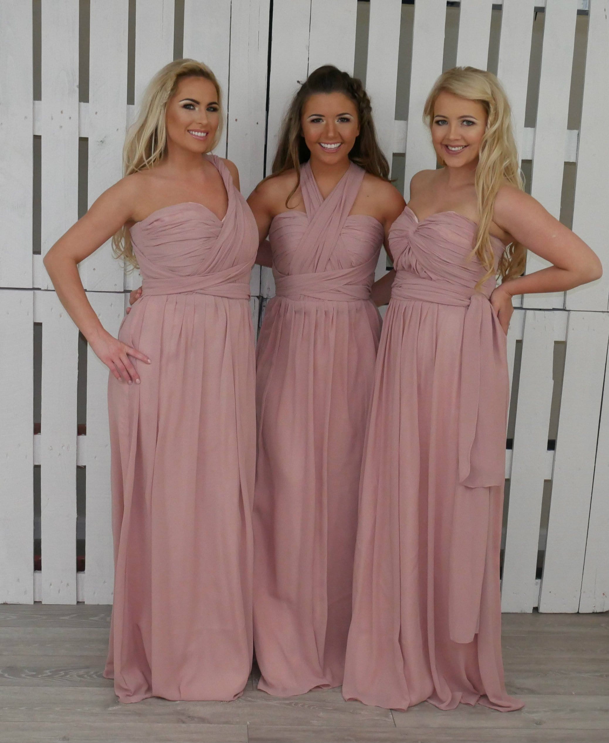 b6146d33a029 Blush Pink Bridesmaid Dresses Multiway - Aztec Stone and Reclamations