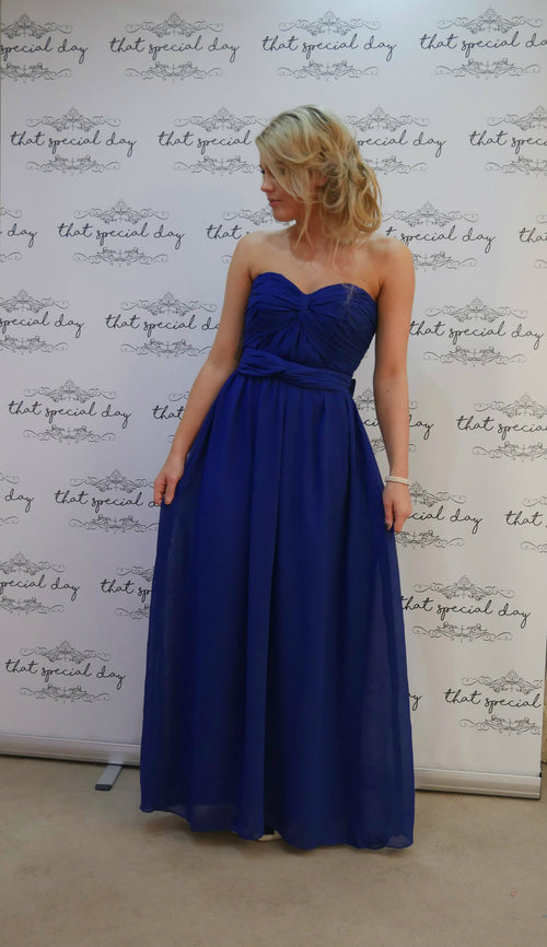 Bow Dress | Royal Blue - That Special Day Bridal Warehouse