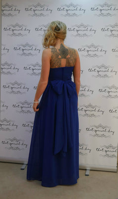 Bow Dress - Royal Blue