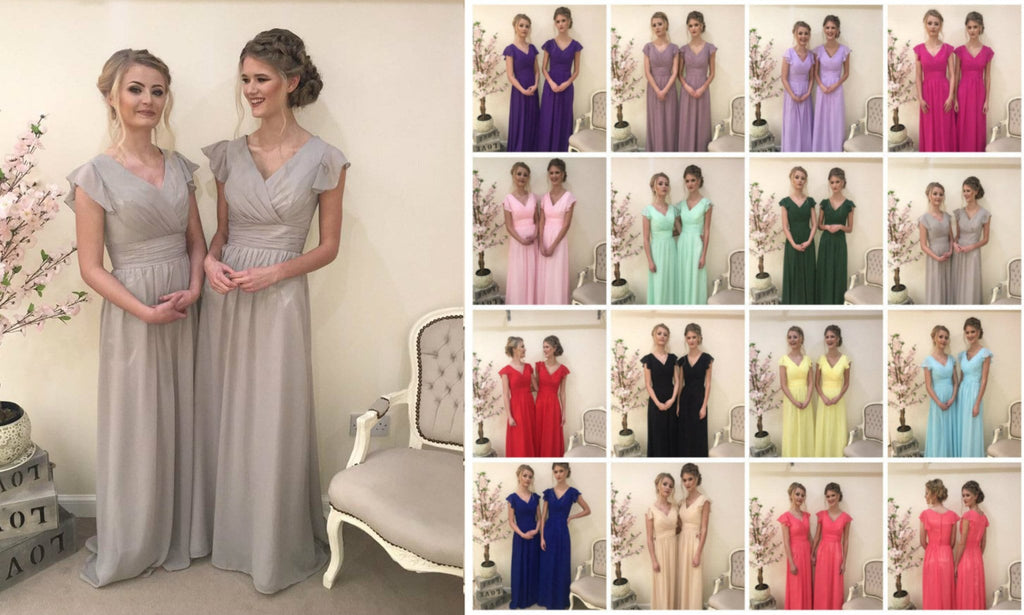 Layla Capped Sleeve Vintage Bridesmaid Maxi Dress