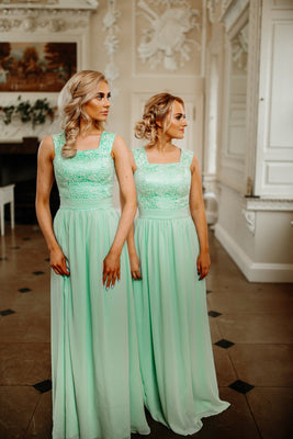 Charlotte Two Shoulder Lace Bridesmaid Dress