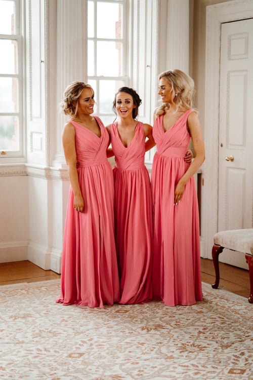 Ashley | V Neck Bridesmaid Dress - That Special Day Bridal Warehouse