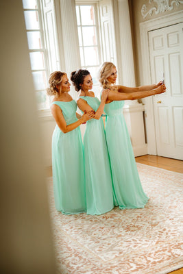 Leah One Shoulder Plus Size Maxi Bridesmaid Dress