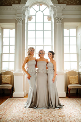 Fleur Strapless Fitted Peplum Bridesmaid Dress