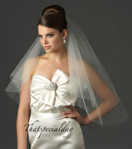 Two Tier Elbow Length Cut Romantic Edge