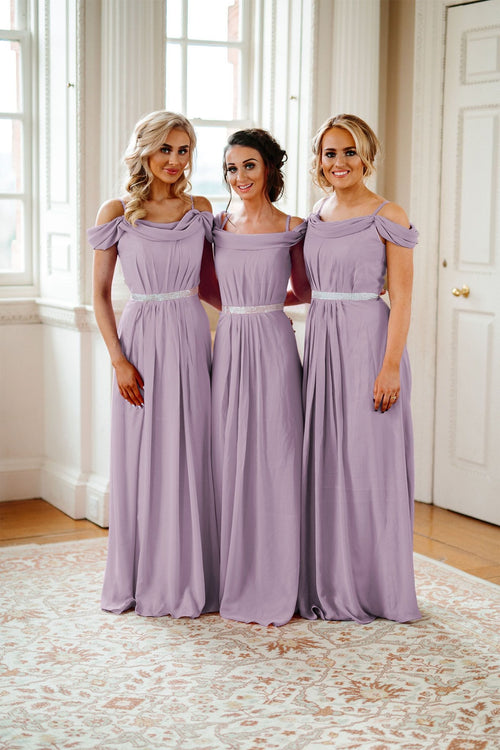 Abigail | Off The Shoulder Bridesmaid Dress Plus Size - That Special Day Bridal Warehouse