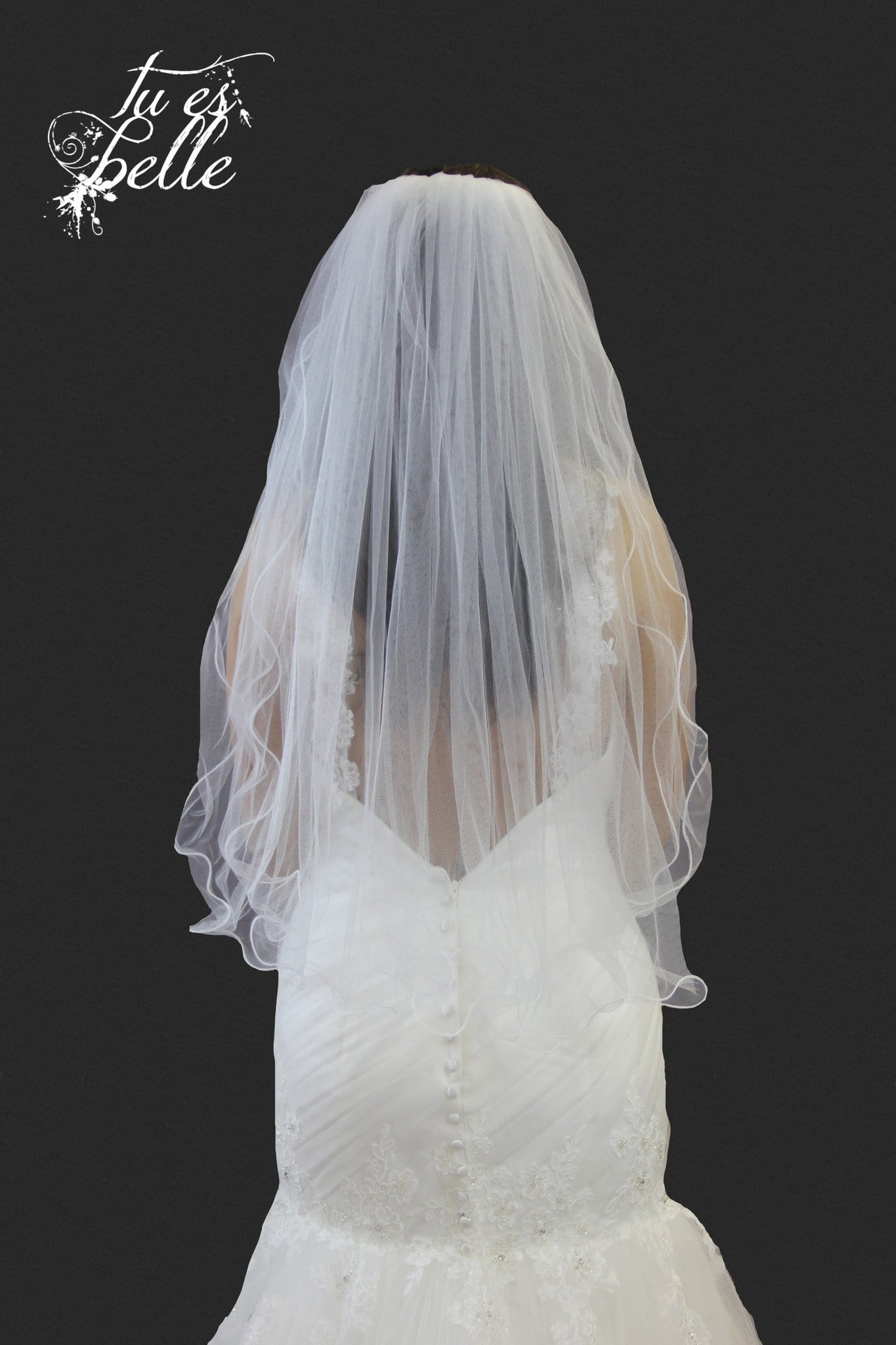 Two Tier Waist Length Curly Edge Veil - That Special Day Bridal Warehouse