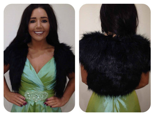 Vera Black Fur Bolero - That Special Day Bridal Warehouse