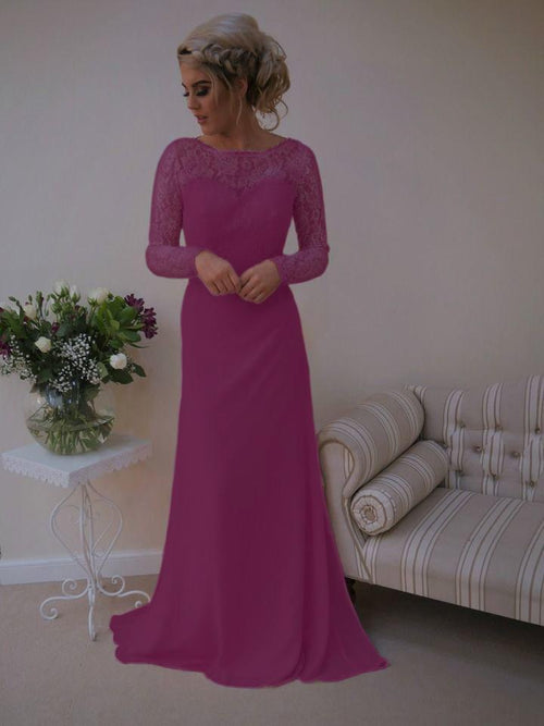 Blaire Dress | Long Sleeve Lace Bridesmaid Dress - That Special Day Bridal Warehouse
