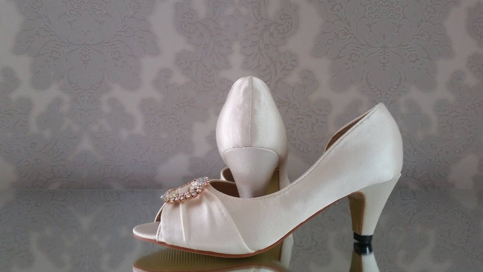 Claudia Kitten Heel Vintage Shoes - That Special Day Bridal Warehouse