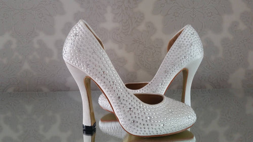 Desirée Crystal Round Toe Shoes - That Special Day Bridal Warehouse