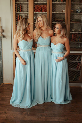 Ella Sweetheart Strapless Sequin Maxi Bridesmaid Dress