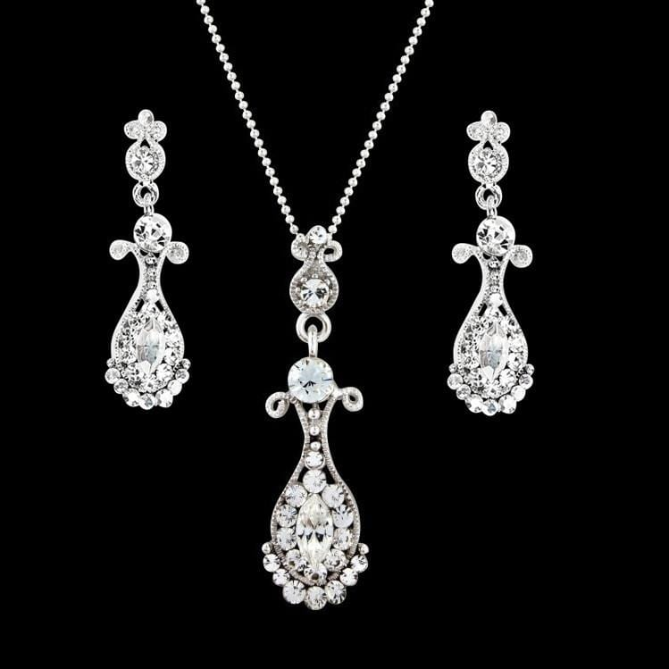 Esmerelda Crystal Necklace Set S-NK22