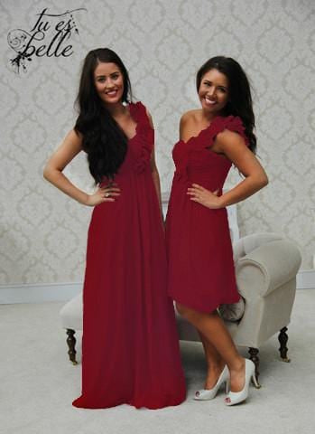 EVE SHORT WINE RED - That Special Day Bridal Warehouse