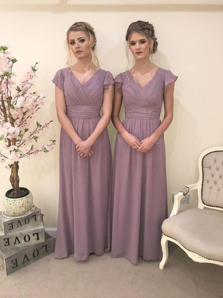 Layla Capped Sleeve Vintage Bridesmaid Maxi Dress - That Special Day Bridal Warehouse