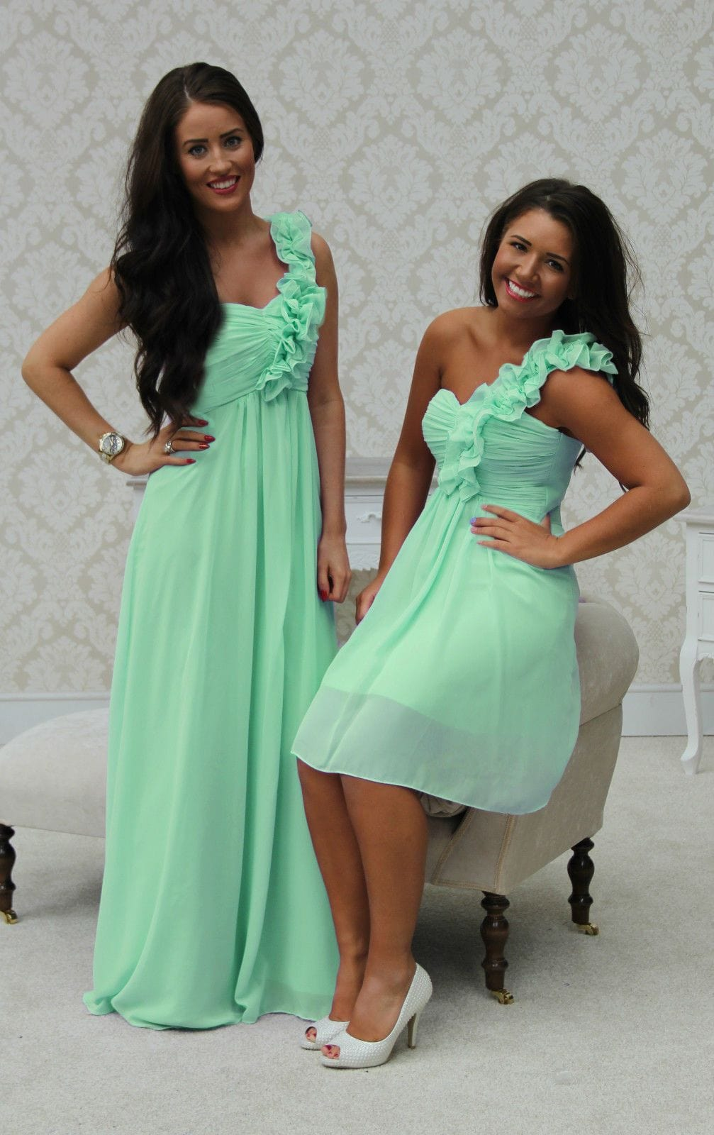 EVE SHORT MINT GREEN - That Special Day Bridal Warehouse