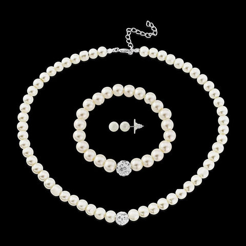 Florence 3 Piece Pearl Necklace Set NK236