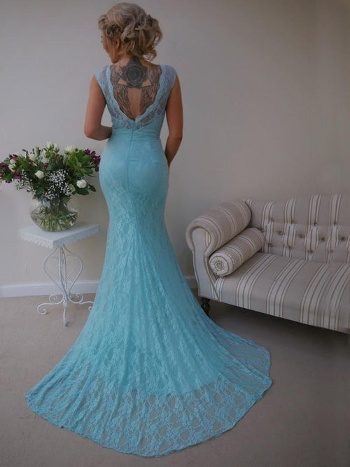 Audrey Dress | Fitted Lace Fishtail Bridesmaid Dress - That Special Day Bridal Warehouse