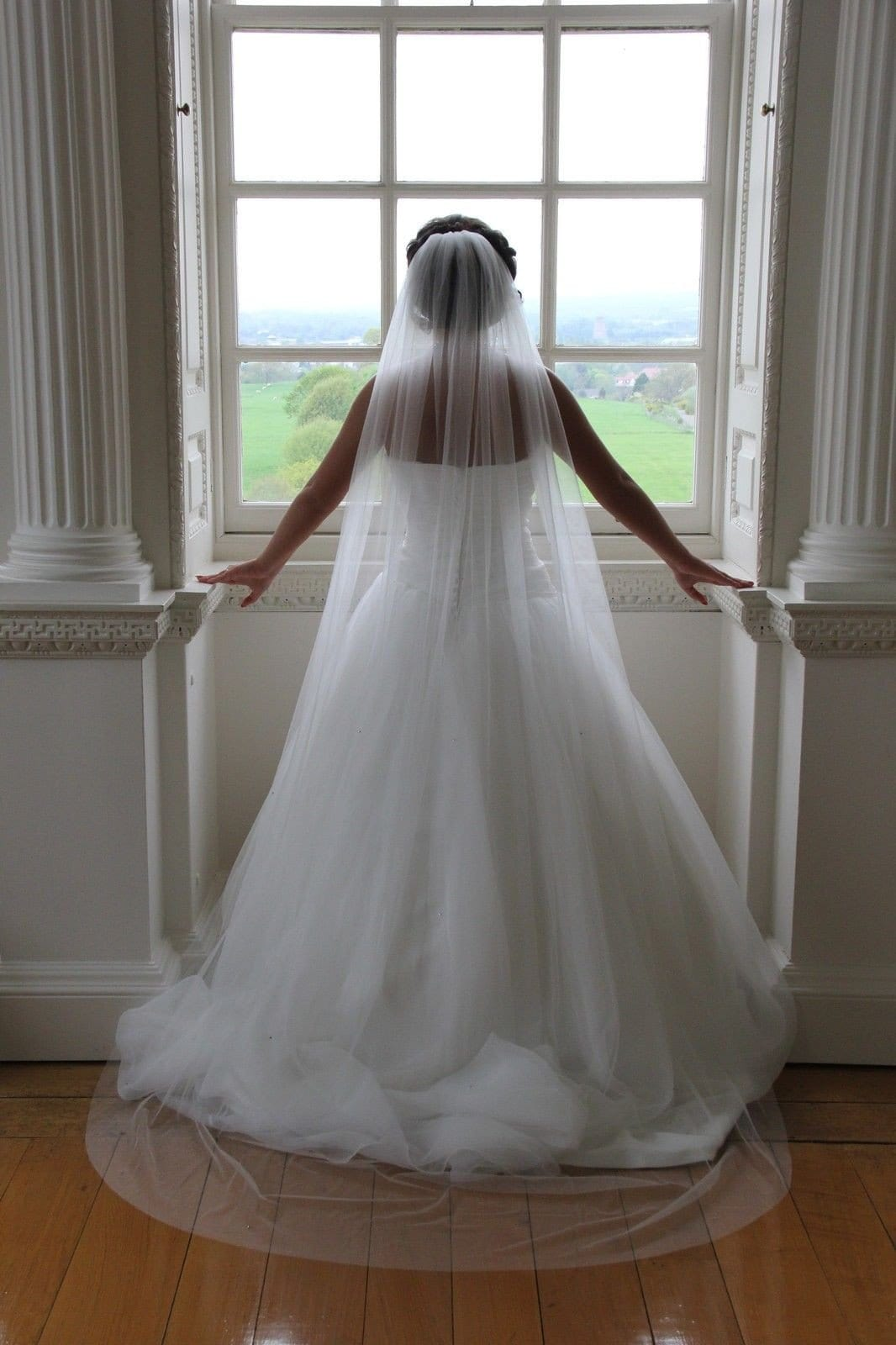 Sophia- One Tier Chapel Length Crystal Veil - That Special Day Bridal Warehouse