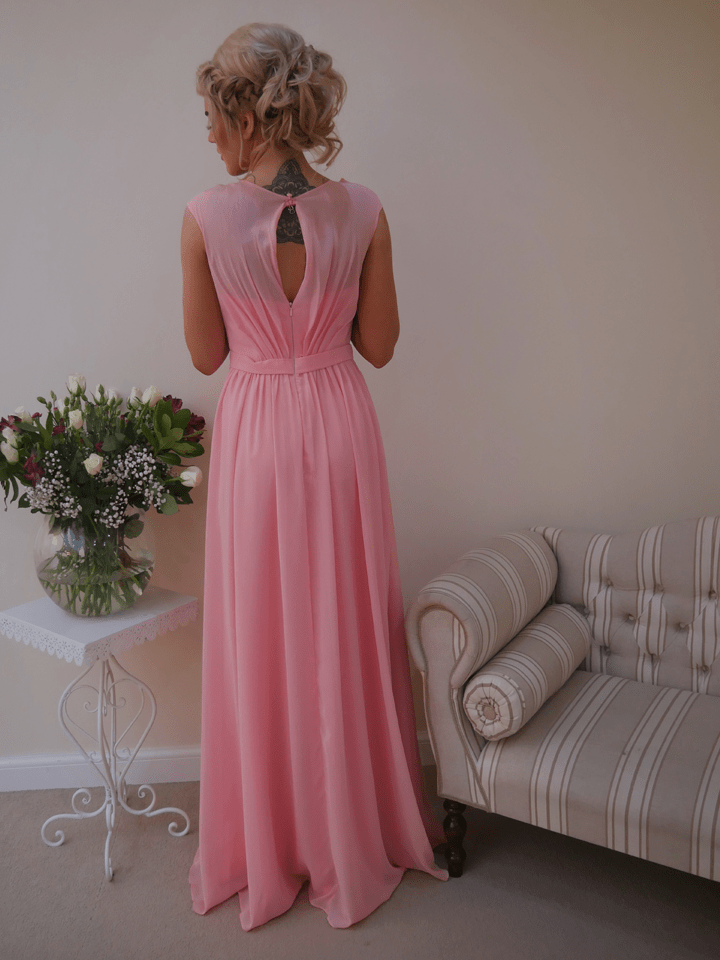 Corrine Dress | High Neck Chiffon Bridesmaid Dress - That Special Day Bridal Warehouse