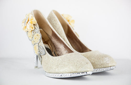Florentina Crystal Gem Shoes - That Special Day Bridal Warehouse