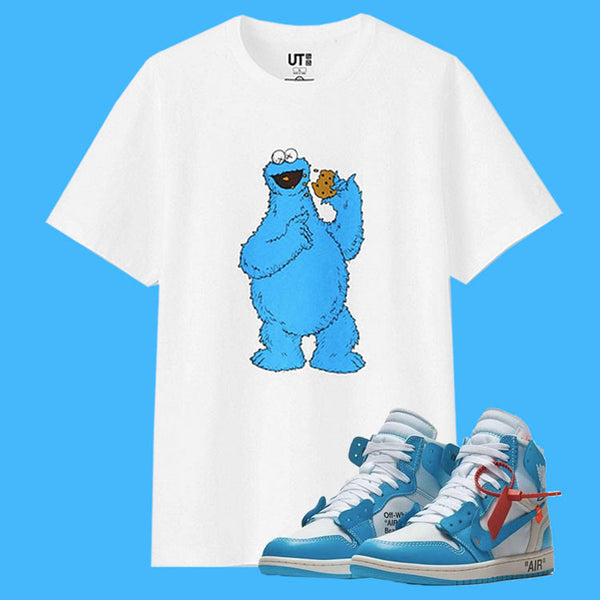 MATCH MY KICKS: OFF-WHITE X AIR JORDAN 1 POWDER BLUE - KAWS X UNIQLO