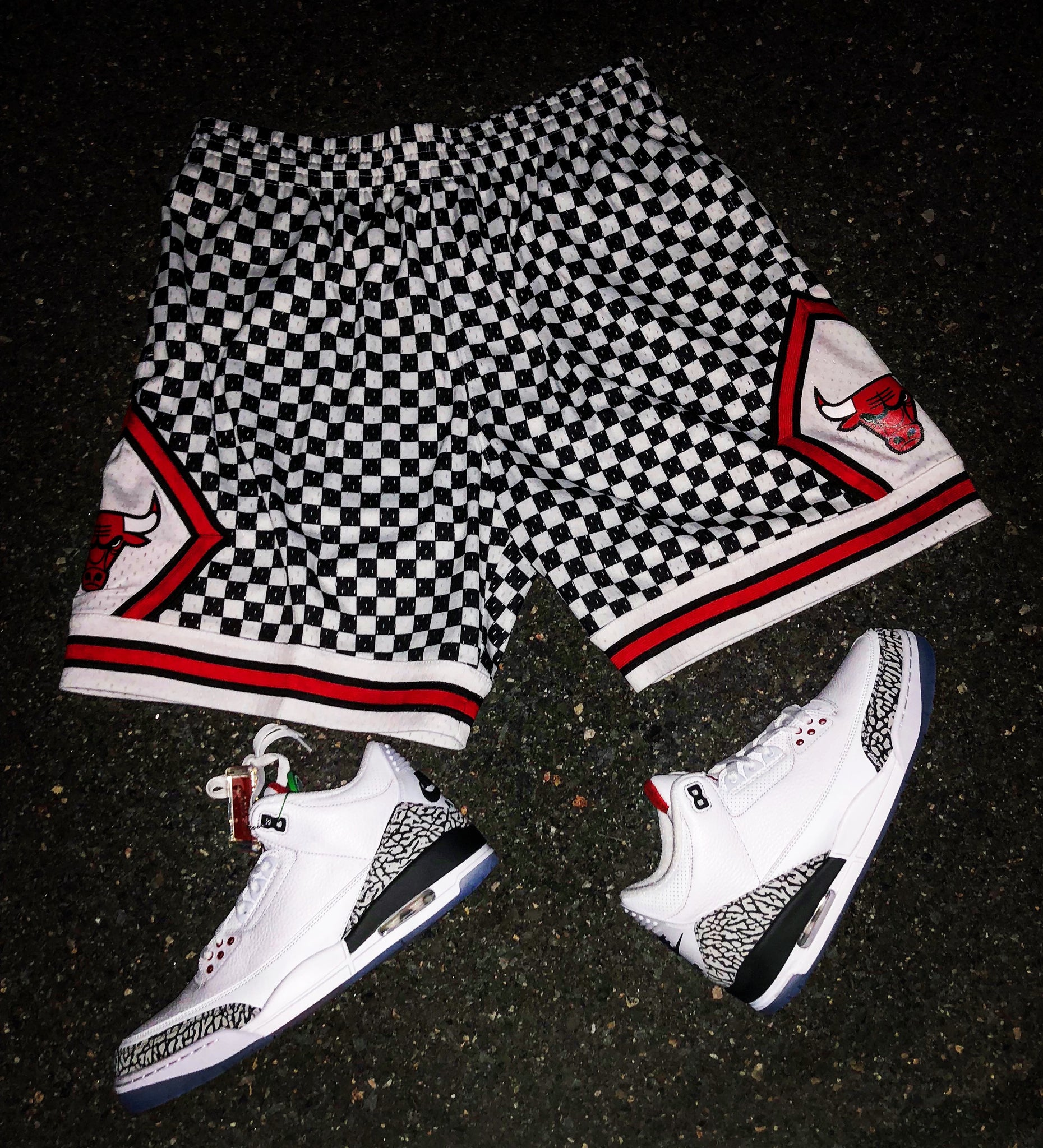 Mitchell & Ness Limited Checkered Chicago Bulls Shorts
