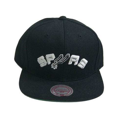 NBA Mitchell & Ness Black San Antonio Spurs Snapback Cap