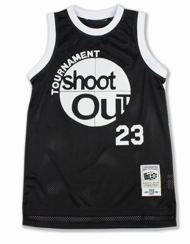 Shoot Out Basketball Jersey in Black