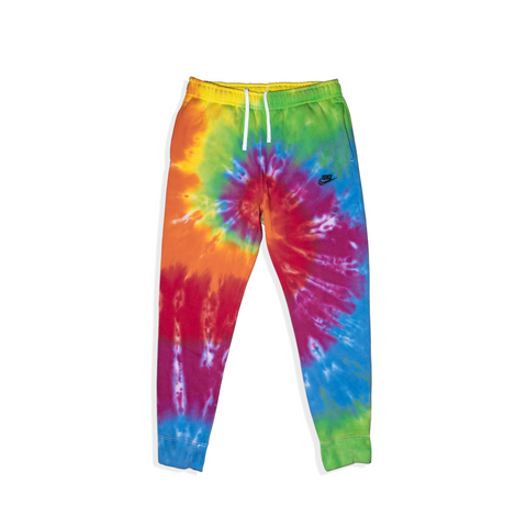 Tie Dyed Nike Club Fleece Joggers // Rainbow