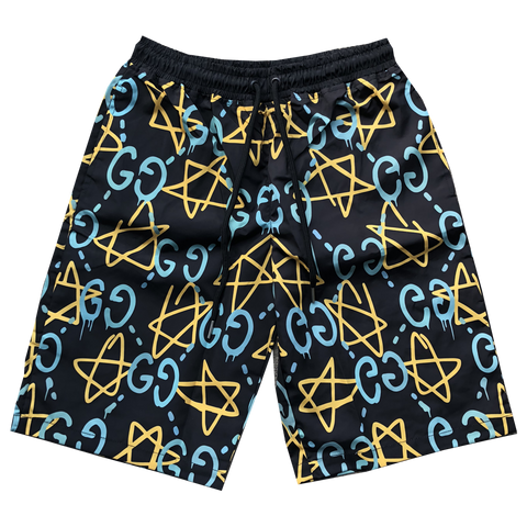 GG GHOST SWIM TRUNKS IN BLACK