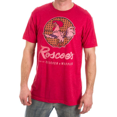 Roscoe's Chicken N Waffles Men's Red Heather T-Shirt