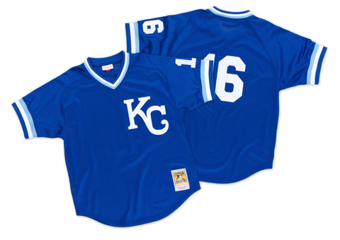 Mitchell & Ness Bo Jackson 1989 Authentic Mesh BP Jersey Kansas City Royals In Blue