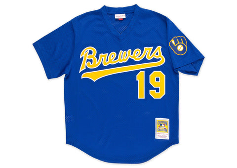 Mitchell & Ness Robin Yount 1991 Authentic Mesh BP Jersey Milwaukee Brewers