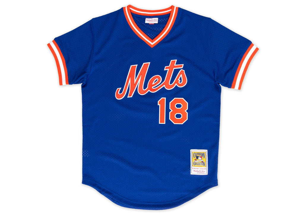 Mitchell & Ness Darryl Strawberry 1986 Authentic Mesh BP Jersey New York Mets