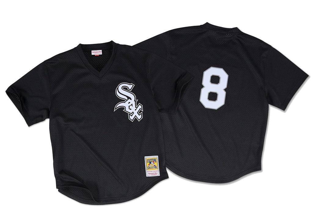 Mitchell & Ness Bo Jackson 1993 Authentic Mesh BP Jersey Chicago White Sox In Black