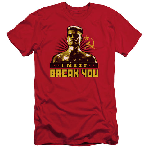 Rocky Iv - I Must Break You Short Sleeve Adult 30/1