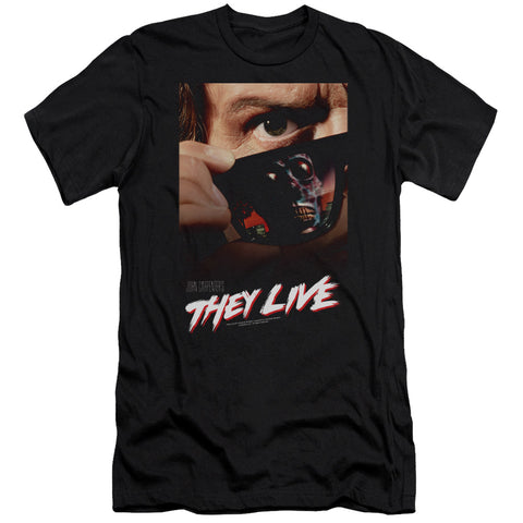 They Live - Poster Premium Canvas Adult Slim Fit 30/1