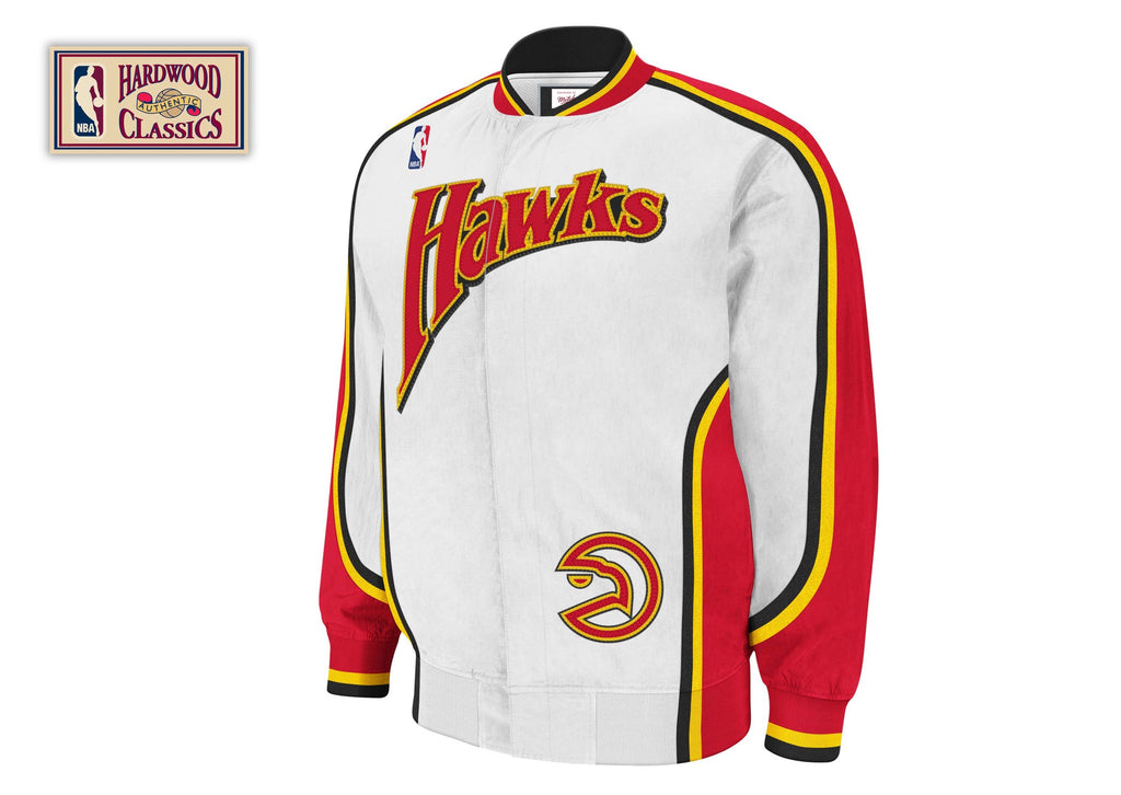 Mitchell & Ness Atlanta Hawks 1992-93 Authentic Warm Up Jacket In White