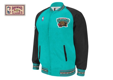 Mitchell & Ness 1995-96 Authentic Warm Up Jacket Vancouver Grizzlies In Teal