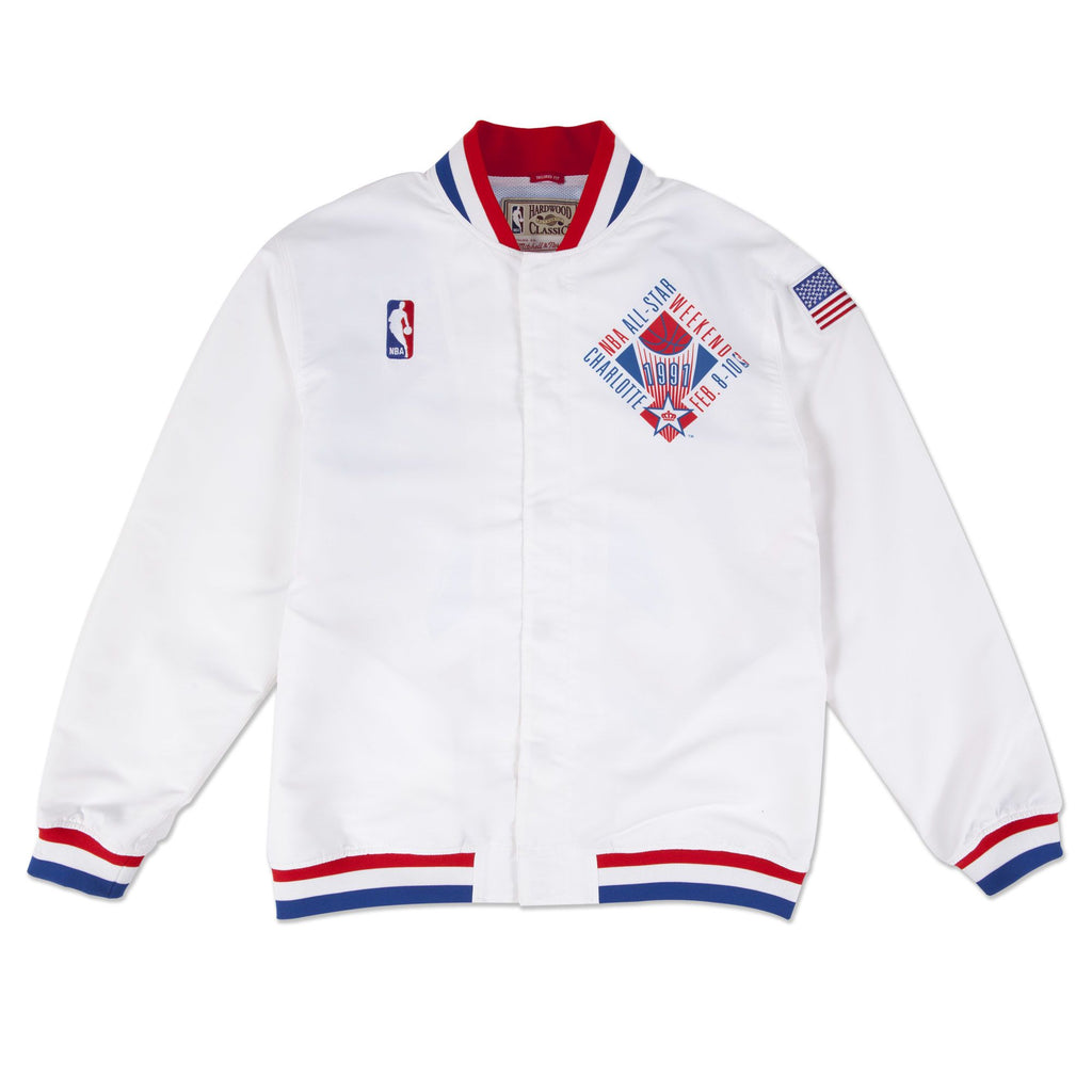Mitchell & Ness 1991 NBA All Star Game East Authentic Warm Up Jacket in White