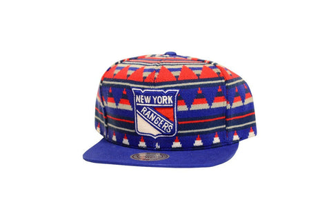 Mitchell & Ness New York Rangers Mixtec Snapback In Multicolor