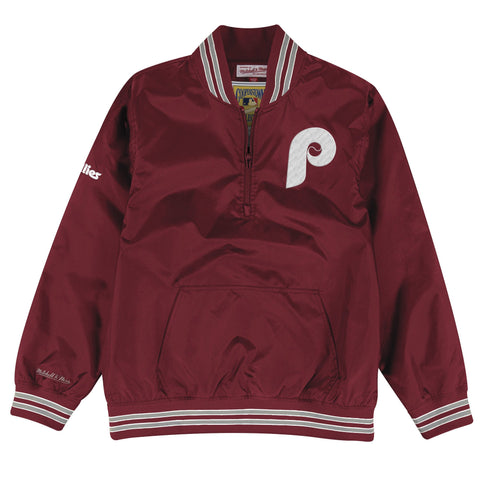 1/4 Zip Nylon Pullover Philadelphia Phillies