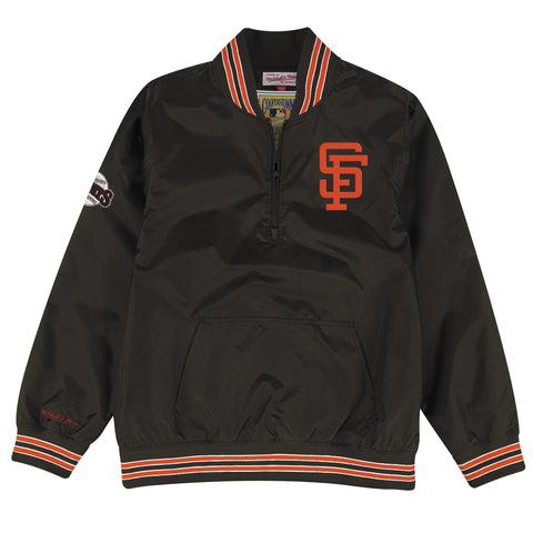 1/4 Zip Nylon Pullover San Francisco Giants