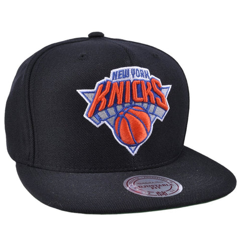 Authentic NY Knicks Mitchell Ness Snapback Hat in Black
