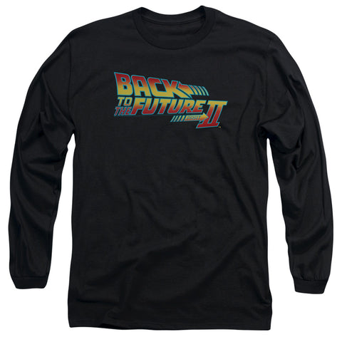 Back To The Future Ii - Logo Long Sleeve Adult 18/1