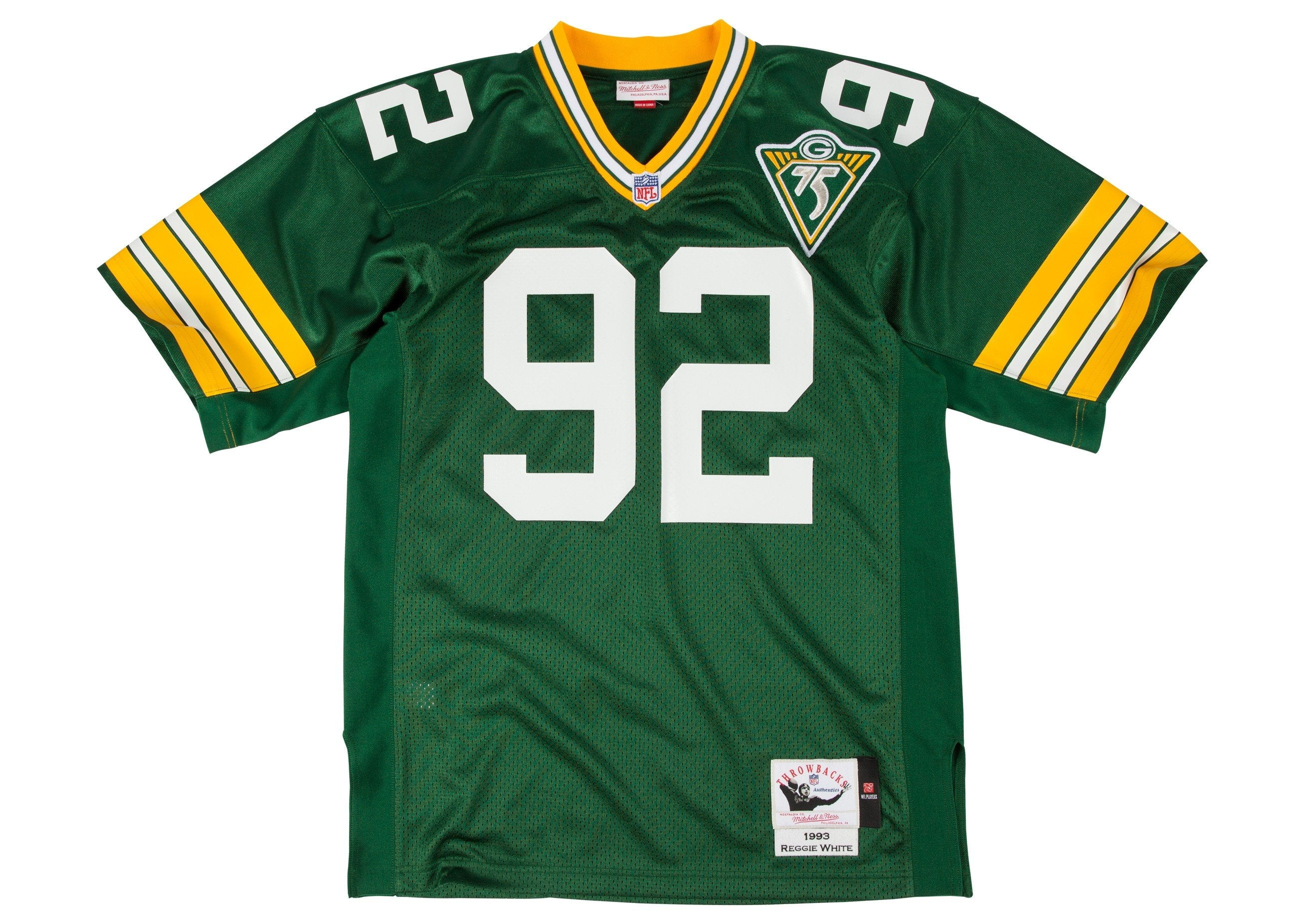 a92dc54925d Mitchell   Ness Green Bay Packers 1993 Reggie White Authentic Throwbac