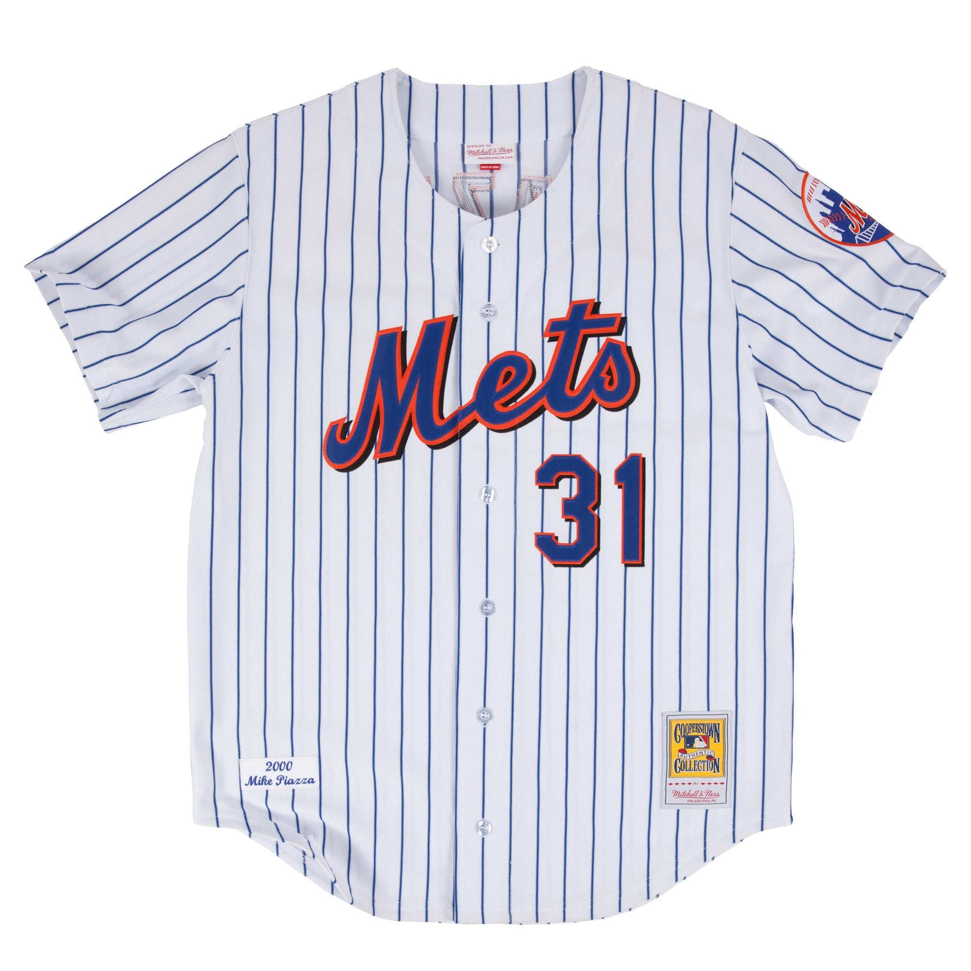 2f04b7238 ... throwback  mitchell ness mike piazza 2000 authentic jersey new york mets  in white