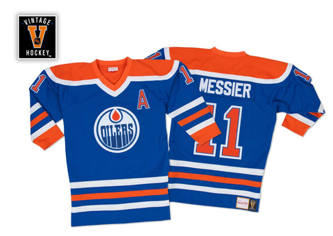 Mitchell & Ness Mark Messier 1986-87 Authentic Jersey Edmonton Oilers In Blue
