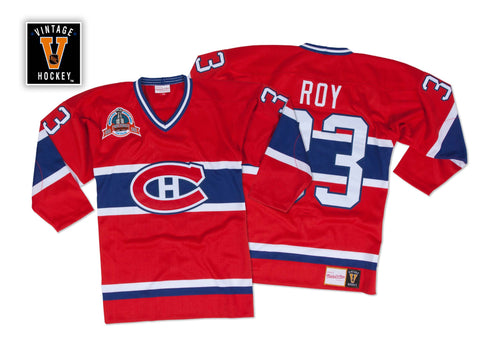 Mitchell & Ness Patrick Roy 1992-93 Authentic Jersey Montreal Canadiens In Scarlet